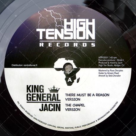 "HTR12001 High Tension Records - King General - There Must Be A Reason (12"")"