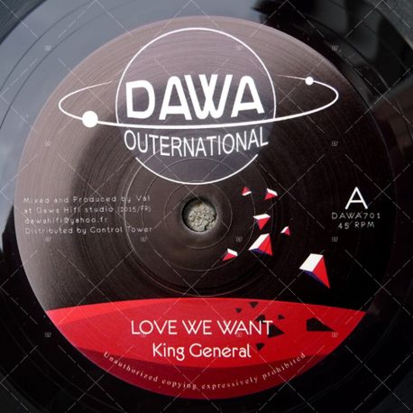"DAWA701 - King General - Love We Want (7"")"